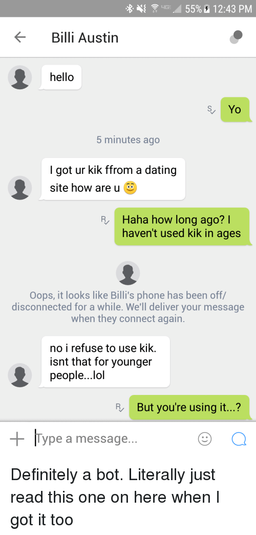 Hook up on kik