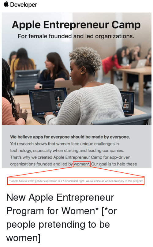 Developer Apple Entrepreneur Camp for Female Founded and Led