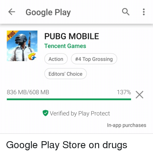 Google Play PUBG MOBILE Tencent Games Action #4 Top Grossing