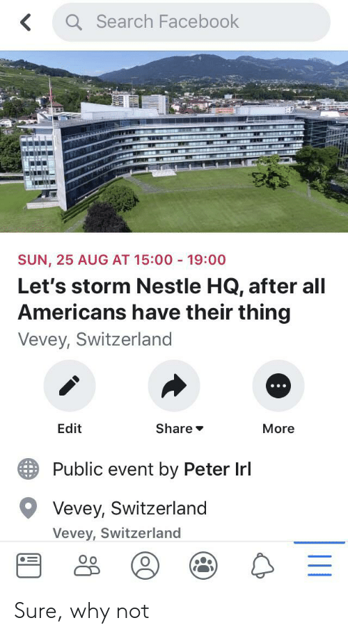 Q Search Facebook SUN 25 AUG AT 1500 1900 Let's Storm Nestle