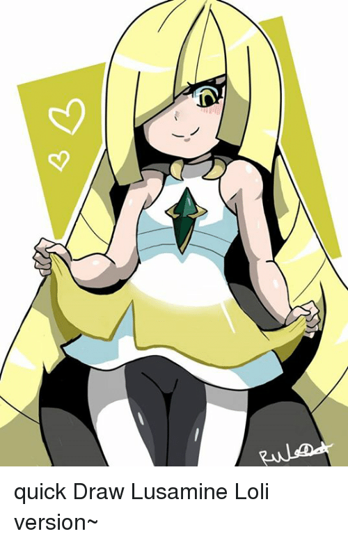 Memes, Drawings, and 🤖: <3  イ乀 quick Draw Lusamine Loli version~