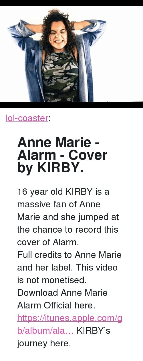 alarm download anne marie