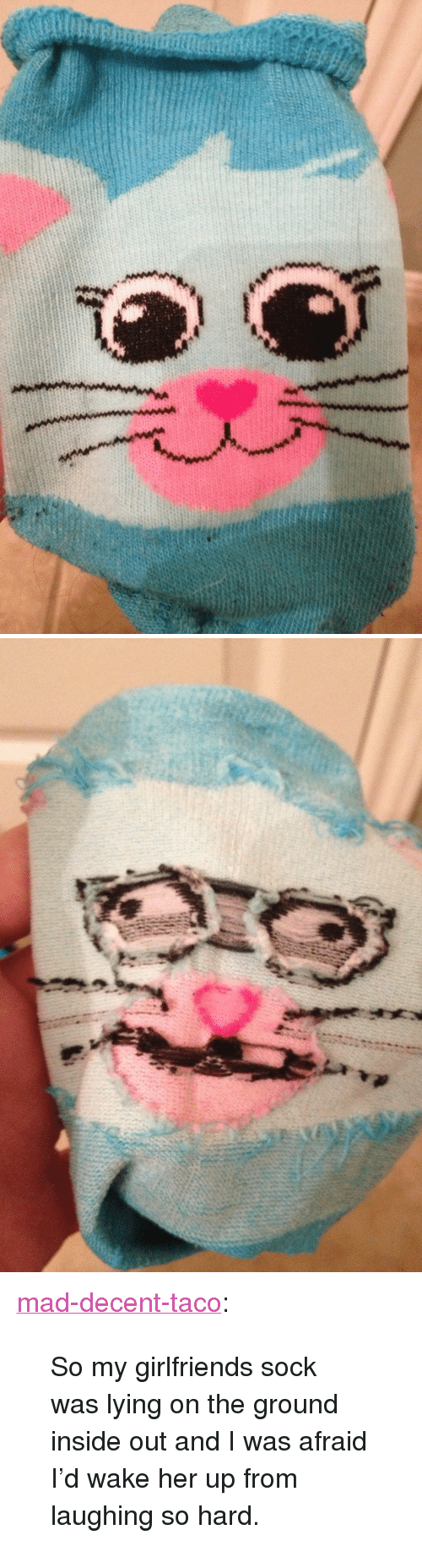 """Inside Out, Target, and Tumblr: <p><a class=""""tumblr_blog"""" href=""""http://mad-decent-taco.tumblr.com/post/67327623359/so-my-girlfriends-sock-was-lying-on-the-ground"""" target=""""_blank"""">mad-decent-taco</a>:</p> <blockquote> <p>So my girlfriends sock was lying on the ground inside out and I was afraid I'd wake her up from laughing so hard.</p> </blockquote>"""