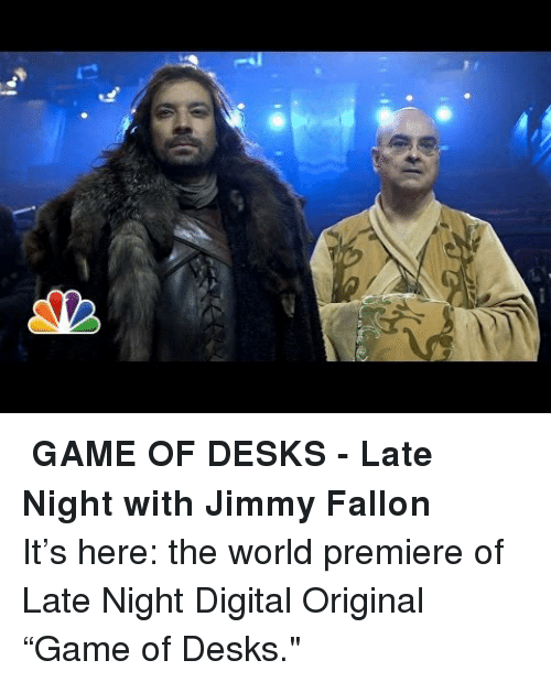Jimmy Fallon, Game of Desks