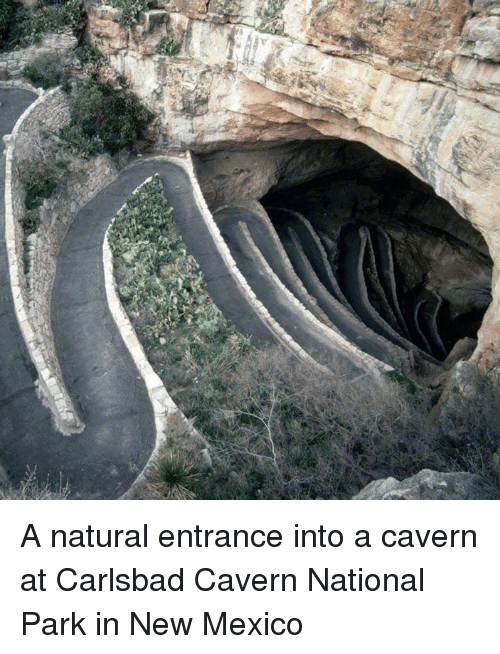 Mexico, New Mexico, and Park: <p>A natural entrance into a cavern at Carlsbad Cavern National Park in New Mexico</p>