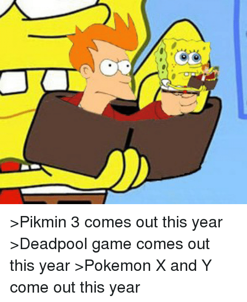 Pikmin 3 Comes Out This Year Deadpool Game Comes Out This Year