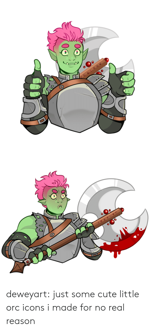 Cute, Tumblr, and Blog: оео deweyart:  just some cute little orc icons i made for no real reason