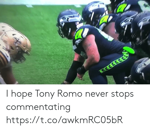 Nfl, Tony Romo, and Hope: इरछी  ब  सरर I hope Tony Romo never stops commentating https://t.co/awkmRC05bR