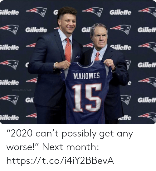 """Football, Nfl, and Sports: """"2020 can't possibly get any worse!""""   Next month: https://t.co/i4iY2BBevA"""