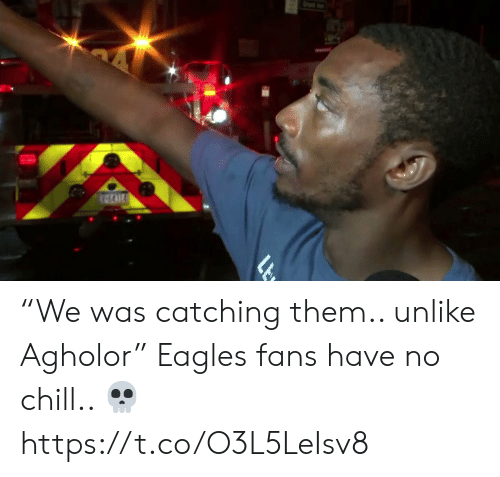 """Chill, Philadelphia Eagles, and Football: """"We was catching them.. unlike Agholor""""   Eagles fans have no chill.. ?  https://t.co/O3L5LeIsv8"""
