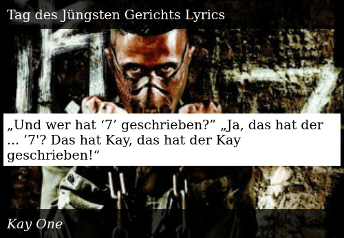 kay one tag des juengsten gerichts