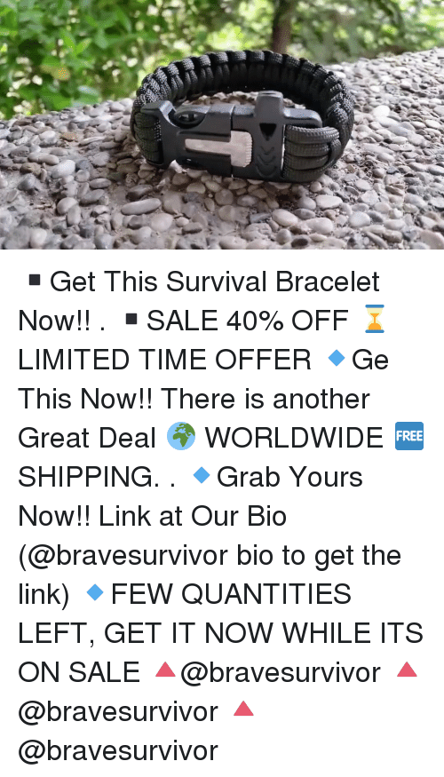 ▫Get This Survival Bracelet Now!! ▫SALE 40% OFF ⌛LIMITED