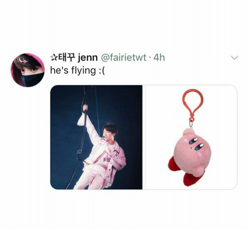 Hes and Flying: ☆태꾸Jenn @fairietwt. 4h  he's flying: