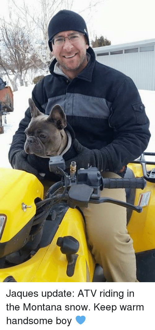 冰 Jaques Update ATV Riding in the Montana Snow Keep Warm