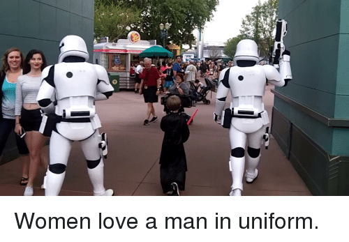 Why do women like a man in uniform