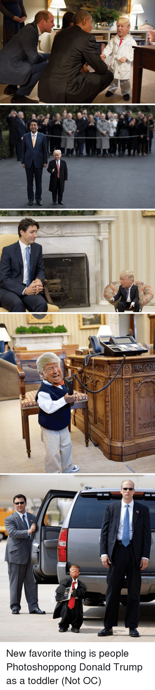 Donald Trump, Thing, and New: 品 New favorite thing is people Photoshoppong Donald Trump as a toddler (Not OC)