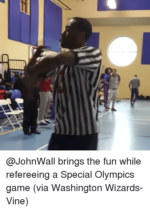 Sports, Vine, and Washington Wizards: 避 @JohnWall brings the fun while refereeing a Special Olympics game (via Washington Wizards-Vine)