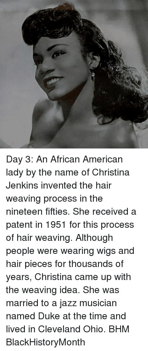 Day 3 An African American Lady By The Name Of Christina Jenkins