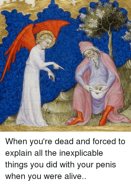 Alive, Penis, and Dank Memes: 가 When you're dead and forced