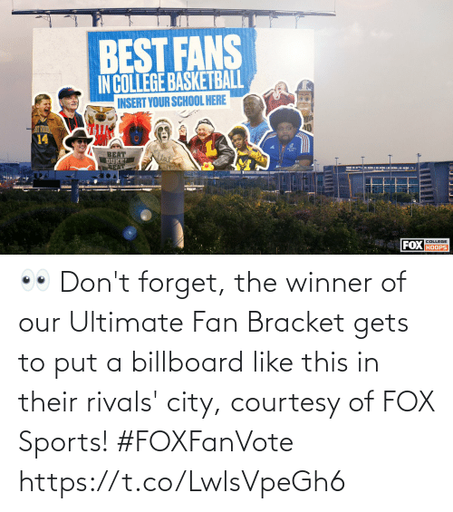 Billboard, Memes, and Sports: 👀 Don't forget, the winner of our Ultimate Fan Bracket gets to put a billboard like this in their rivals' city, courtesy of FOX Sports! #FOXFanVote https://t.co/LwlsVpeGh6