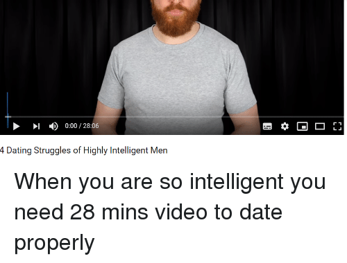 dating a highly intelligent man