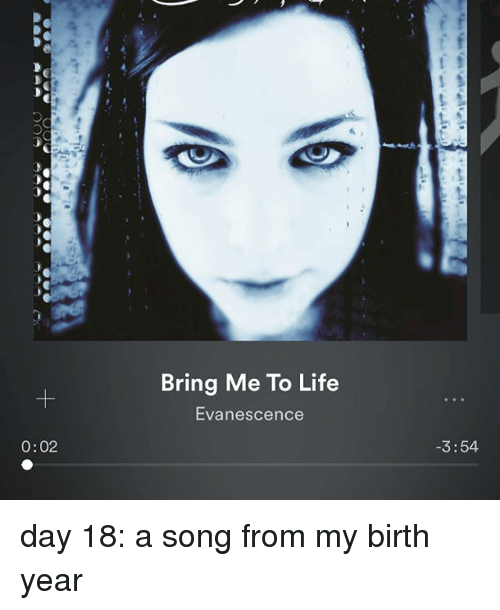 002 Bring Me to Life Evanescence 354 Day 18 a Song From My