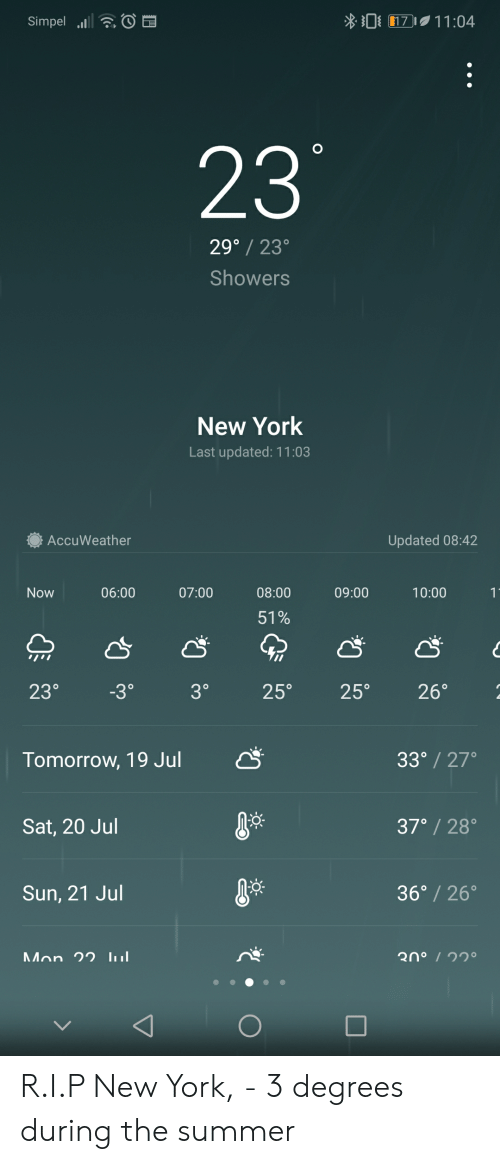 0 171104 Simpel 23 29° 23 Showers New York Last Updated 1103
