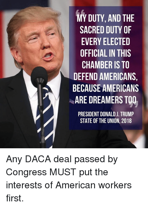Memes, American, and 🤖: 0  EHT  IS T2  TTSIRR ON  DL-RE  A AN DO THE  E TF  URRCMDE  CE E F H E A E RES STA  AVFA  EEA  8 Any DACA deal passed by Congress MUST put the interests of American workers first.