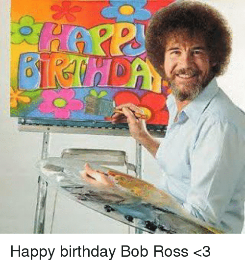 Bob Ross Birthday Cake
