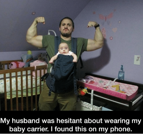 0 My Husband Was Hesitant About Wearing My Baby Carrier I Found This
