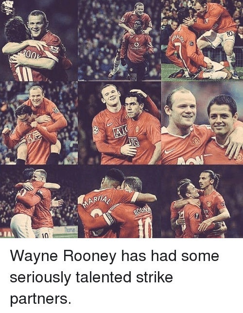 Memes, Arias, and 🤖: 00  10  AIC  IG  ARIA  NAD  10 Wayne Rooney has had some seriously talented strike partners.