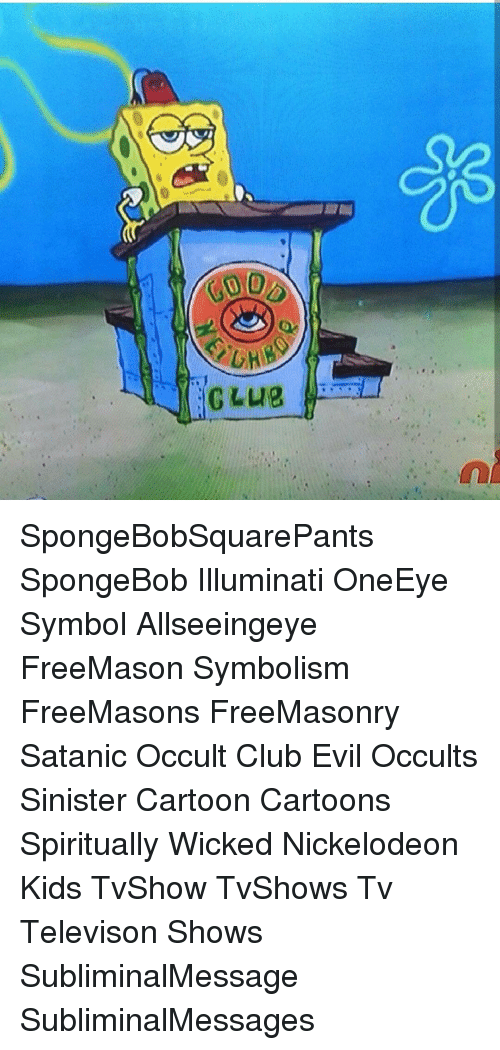 00 Jglue L Club Spongebobsquarepants Spongebob Illuminati Oneeye