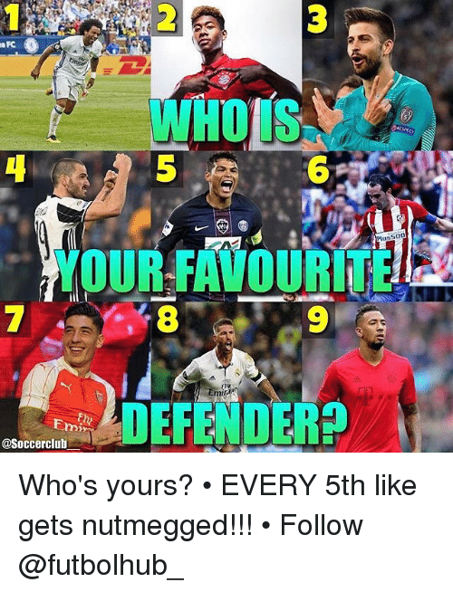 Memes, Emirates, and 🤖: 00  YOUR FAVOURITER2  Emir  Emmi  asoccerclub Who's yours? • EVERY 5th like gets nutmegged!!! • Follow @futbolhub_