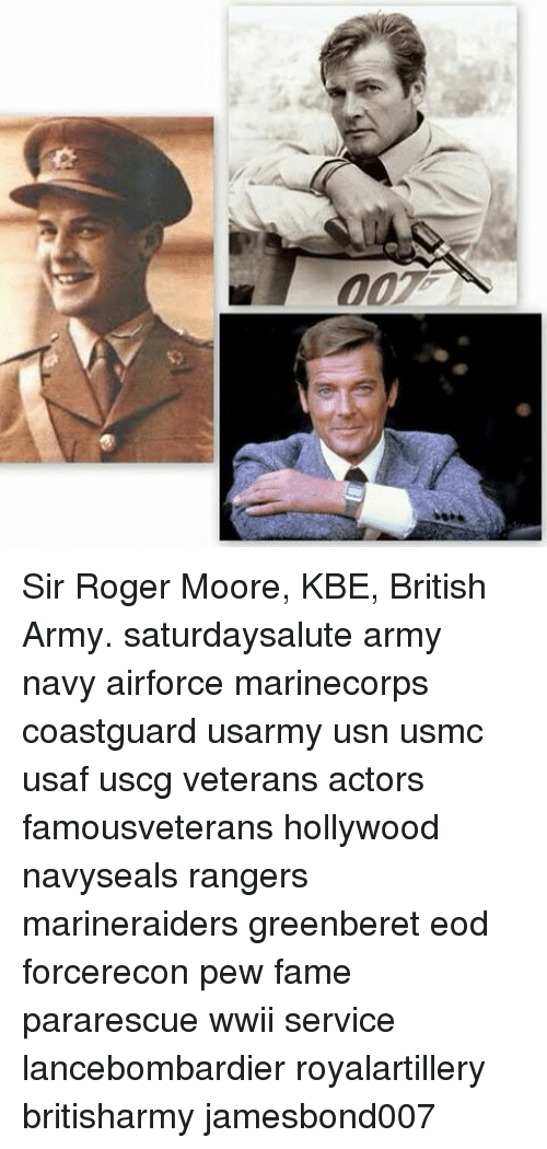 Image result for royal army service corps  roger moore pic
