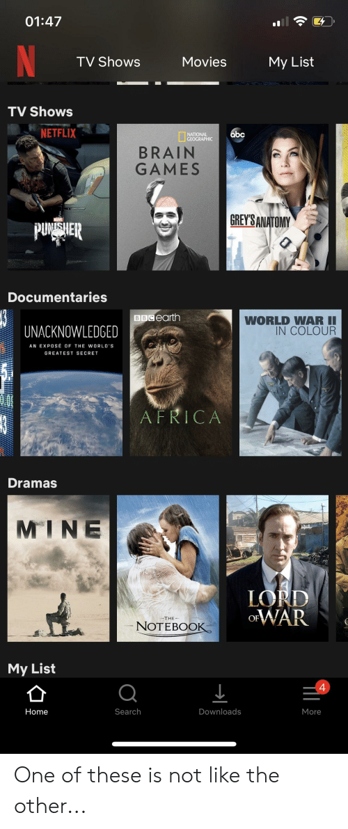 0147 Il TV Shows Movies My List TV Shows NETFLIX NATIONAL GEOGRAPHIC