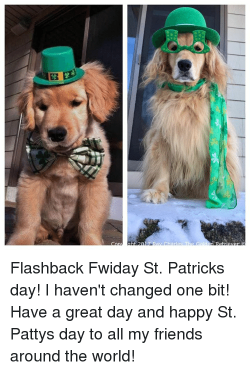 Memes, 🤖, and The World: 010  abt 20 Flashback Fwiday St. Patricks day! I haven't changed one bit! Have a great day and happy St. Pattys day to all my friends around the world!