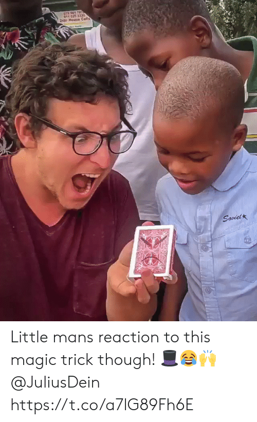 House, Magic, and Soviet: 011 025 3330  24tu House Calls  Soviet Little mans reaction to this magic trick though! 🎩😂🙌 @JuliusDein https://t.co/a7lG89Fh6E