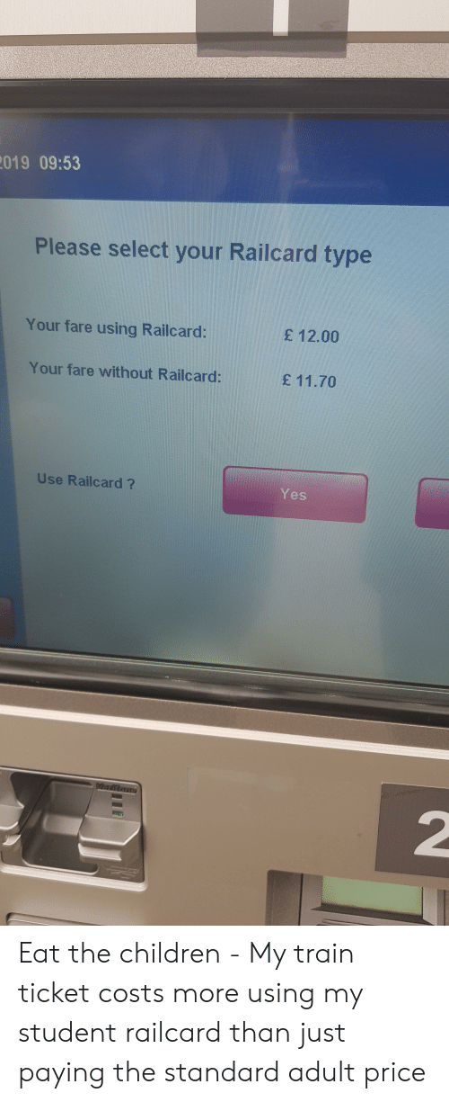 019 0953 Please Select Your Railcard Type Your Fare Using Railcard