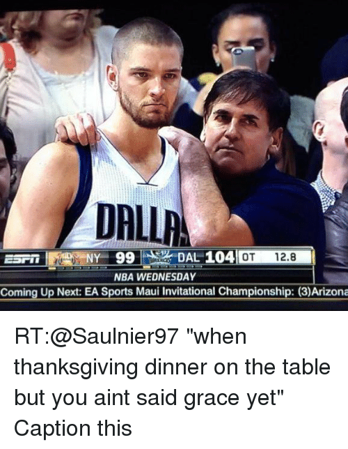 Nba, Sports, and Thanksgiving: 04 OT 12.8 NBA WEDNESDAY Coming Up Next: