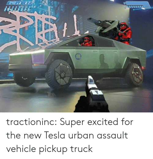 Tumblr, Blog, and Urban: 040x tractioninc:  Super excited for the new Tesla urban assault vehiclepickup truck