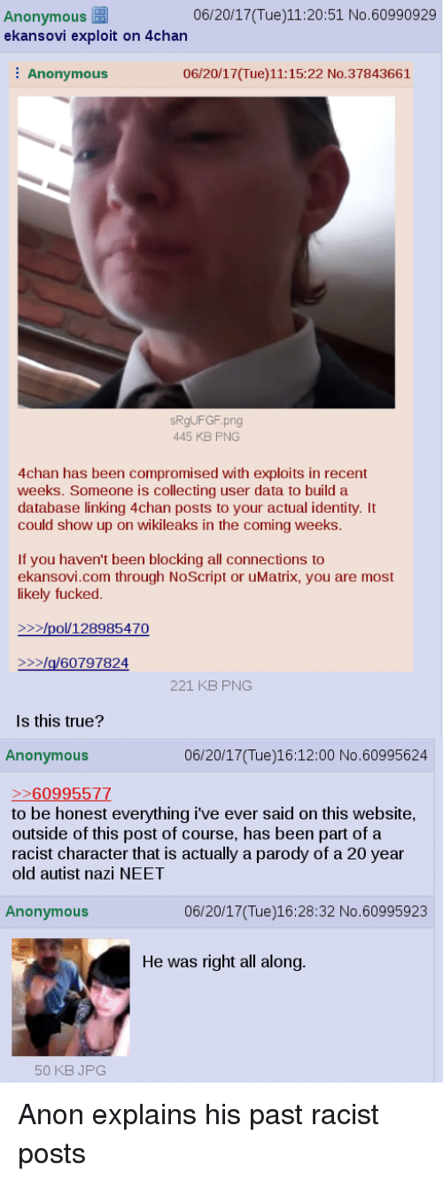 Disturbing 4chan Posts