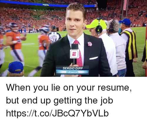 Football, Nfl, and Sports: 07  SERGIO DIPP  @ESPNNFL When you lie on your resume, but end up getting the job https://t.co/JBcQ7YbVLb