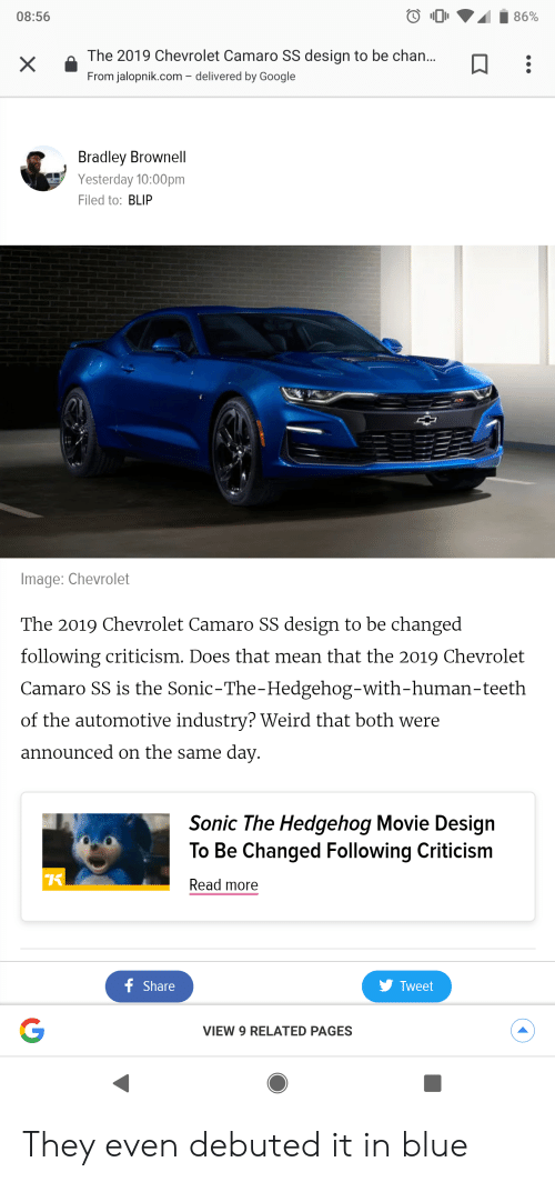 What Does Camaro Mean >> 0856 The 2019 Chevrolet Camaro Ss Design To Be Chan From Jalopnikcom