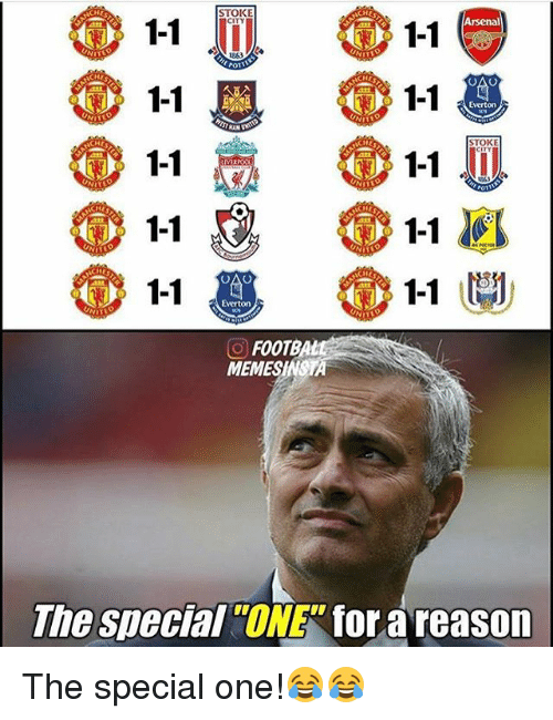 Arsenal, Memes, and 🤖: 1-1  Arsenal  1-1  1-1  1-1  1-1  1-1  CHE  CHE  1-1  1-1  1-1  CO FOOTBA  MEMES  The special  ONE for areason The special one!😂😂