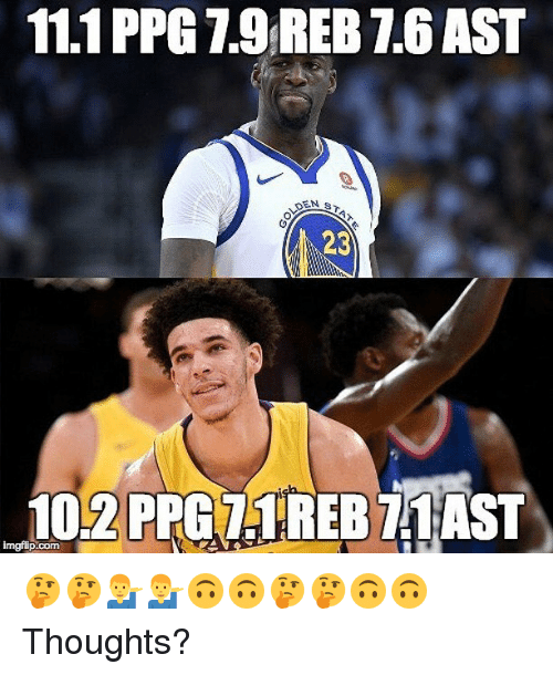 Nba, Ppg, and Com: 1.1 PPG 7.9 REB 7.6 AST  23  102 PPG71REB 71AST  imgfip.com 🤔🤔💁♂️💁♂️🙃🙃🤔🤔🙃🙃 Thoughts?
