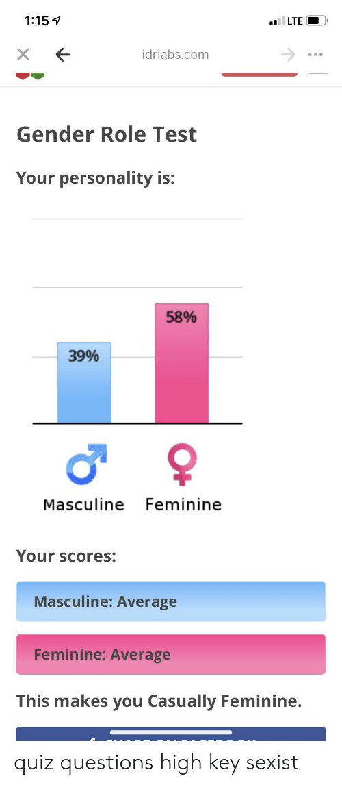 115 LTE X Idrlabscom Gender Role Test Your Personality Is 58
