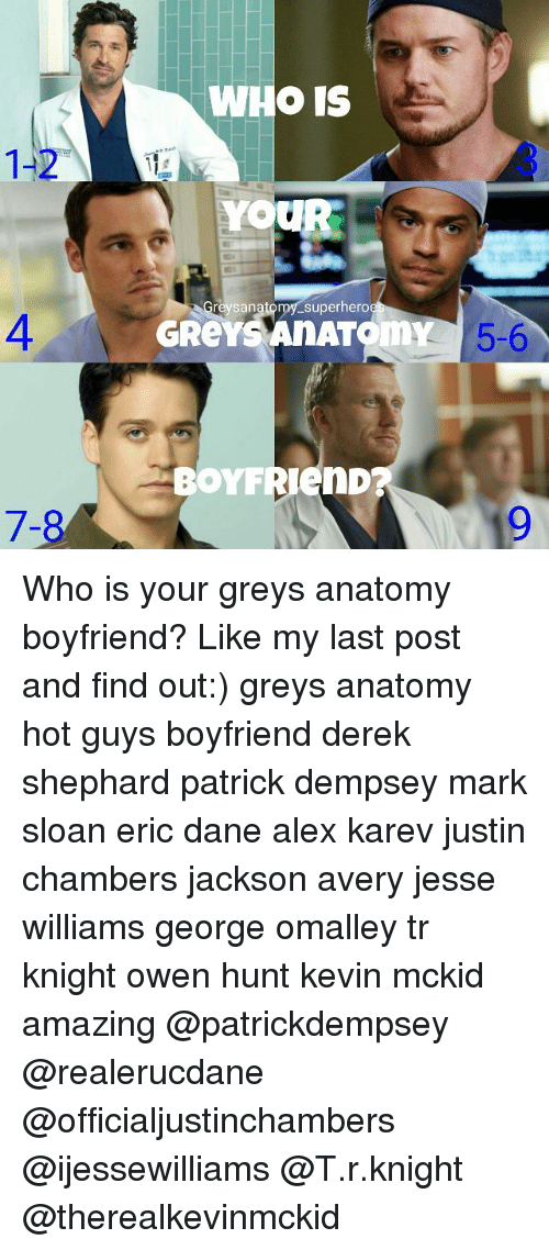 1-2 7-8 WHO IS YOUR Greys Anatomy Superhero GReYS AnATOm BOYF 5-6 ...