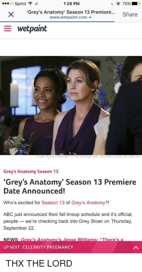 126 Pm Oo Sprint Greys Anatomy Season 13 Premiere Share
