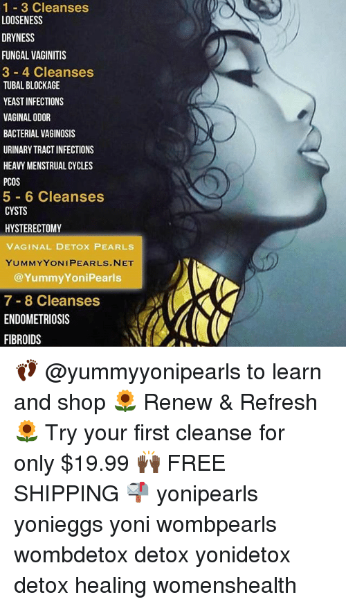 1-3 Cleanses LOOSENESS DRYNESS FUNGAL VAGINITIS 3 4 Cleanses