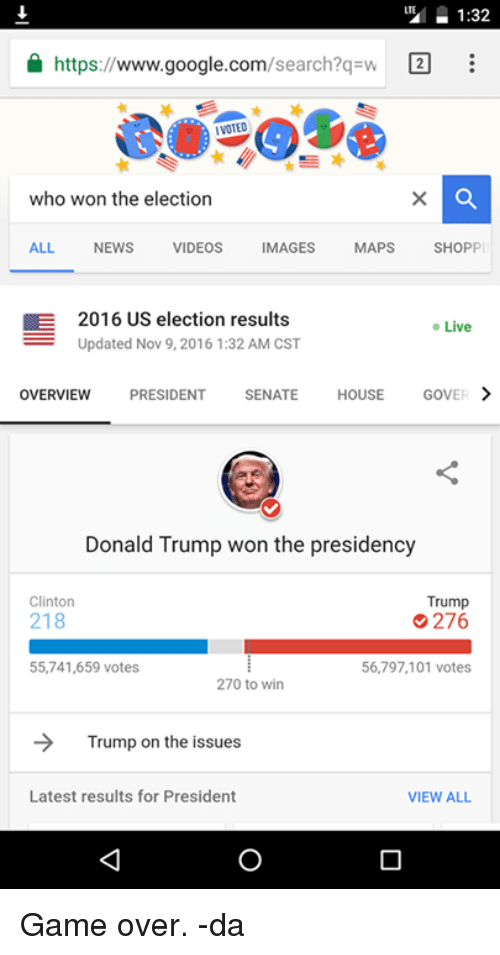 132 Search?q W E Httpswwwgooglecom Who Won the Election ALL NEWS ...
